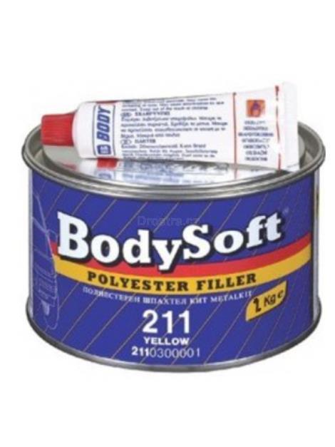 BodySoft 211 PE tmel žlutý na kov a dřevo 2kg