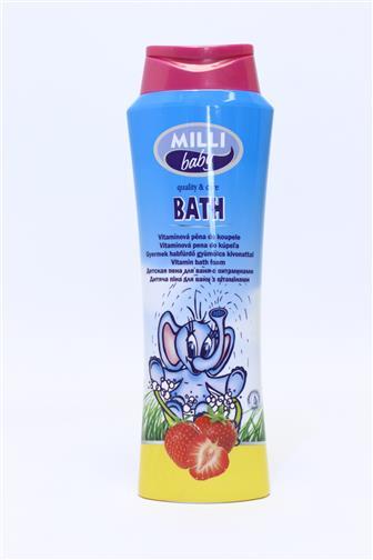 Milli Baby koupel. pěna vitaminová (jahoda) 250 ml