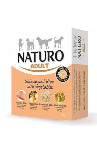 Naturo Adult Dog  losos+rýže+zelenina 400 g