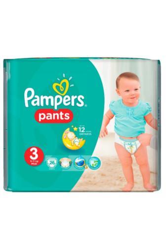Pampers  kalhotky č.3 6-11 kg jednorázové pleny 26 ks
