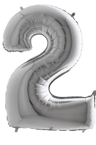 Balónek foliový stříbrný č.2