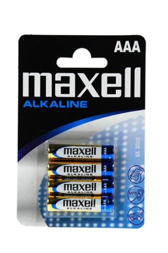 Baterie Maxell alkalické AAA LR03 4ks