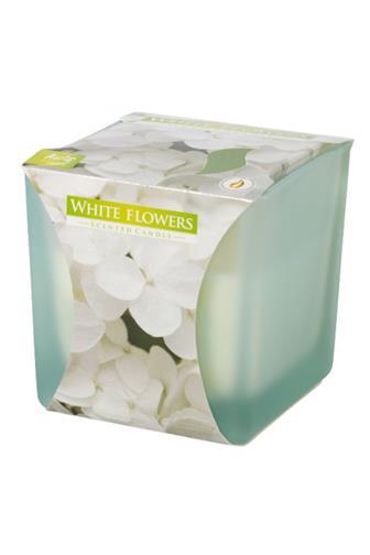 Bispol Aura svíčka vonná White Flowers 170 g
