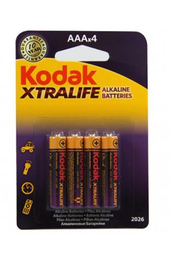 Kodak Xtralife Alkaline baterie AAA 4 ks