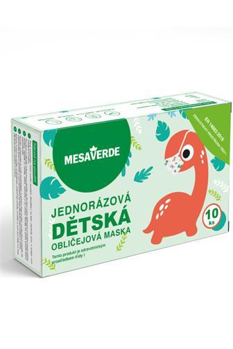 Mesaverde 3vrstvá ochranná obličejová rouška pro chlapce 10 ks