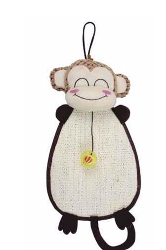 Škrábadlo opice závěsné+hračka 52x24cm 12729