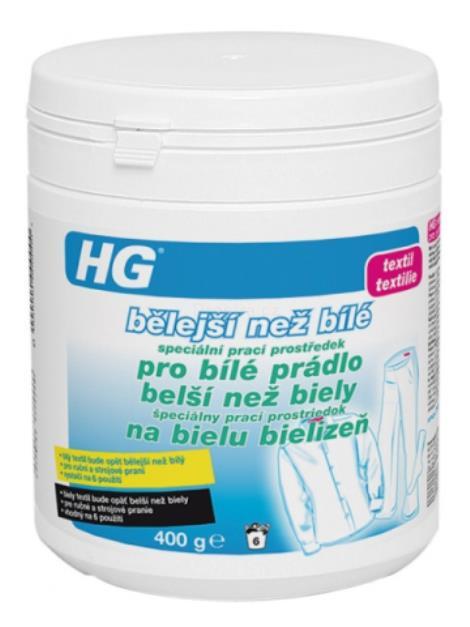 HG bělejší než bílé speciální prací prostředek pro bílé prádlo 400g