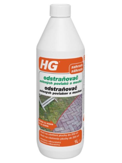 HG Odstraňovač zelených povlaků a mechů 1l