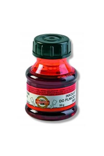 KOH-I-NOOR barva razítková 50g červená