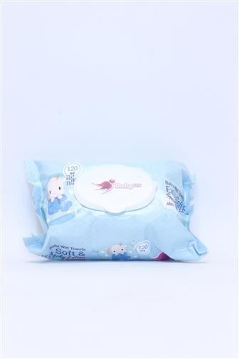 Baby Fin Extra soft vlhčené ubrousky s klipem 120 ks