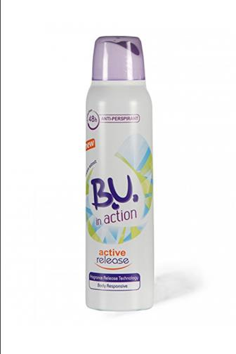 B.U. in action Active Release deo anti-perspirant 150 ml