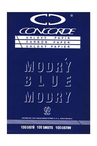 Uhlový papír modrý 031 ruční A4 100 listů