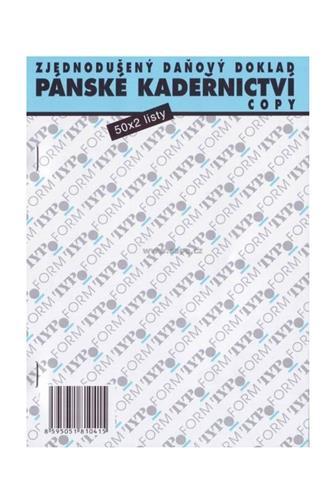Pánské kadeřnictví zjednodušený daňový doklad 50x2listy