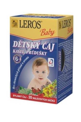 Leros Baby dětský čaj kašel průdušky od 6.měsíce 20x1.5g