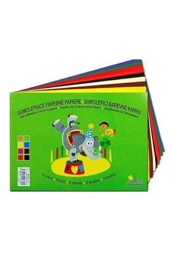 Papír barevný samolepící A5 8listů