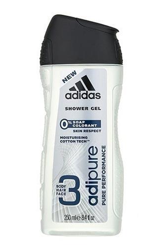 Adidas Adipure Pure Performance sprchový gel 3v1 250 ml