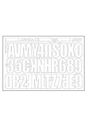 RAFO Samolepicí písmena a čísla 6 cm, 2 sady