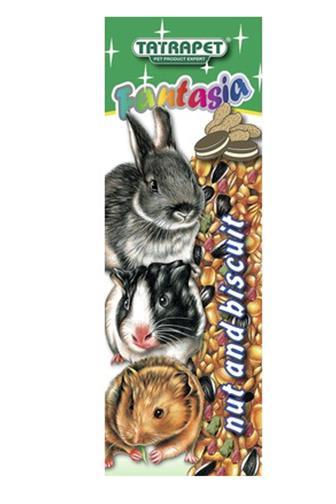 Fantasia tyčinka s ořechem a sušenkou pro hlodavce 2ks