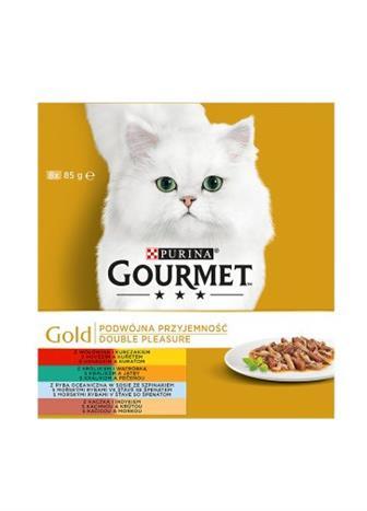 Gourmet Gold hovězí/králík/ryba/kachna 8x85g