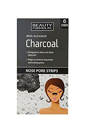 Beauty Formulas Charcoal čistící náplasti na nos 6 ks