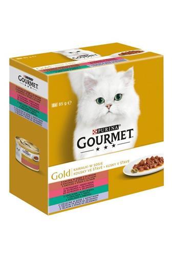 Gourmet Gold kachna/králík/ryba/telecí 8 x 85 g
