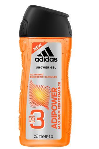 Adidas 3v1 Adipower men sprchový gel 250 ml