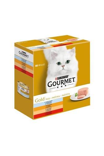 Gourmet Gold paštika tuňák/játra/krůta/hovězí 8 x 85 g