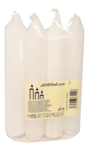 Konzumní svíčky bílé 200g (4ks/sáček)