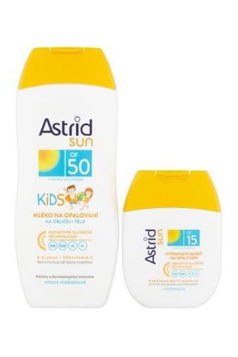 Asrid Sun mléko na opal.kids OF50 200 ml + mléko na opal. OF15 80 ml