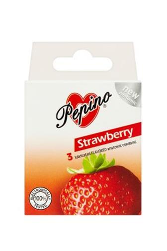 Pepino Aroma jahoda kondom 3 ks