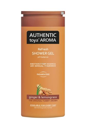 Authentic Toya Aroma Ginger & Lemongrass aromatický sprchový gel 400 ml