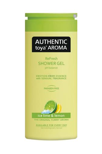 Authentic Toya Aroma Ice Lime & Lemon aromatický sprchový gel 400 ml