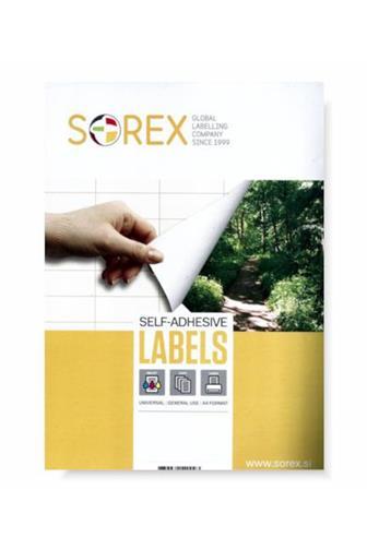 Etikety Sorex arch 210 x 297 mm 100ls / 100 etiket