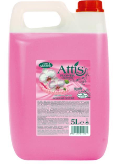 Attis Flower tekuté mýdlo sensual & orchid 5 l
