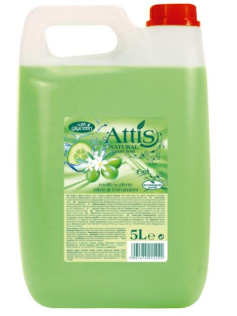 Attis Olive & Cucumber tekuté mýdlo 5 l