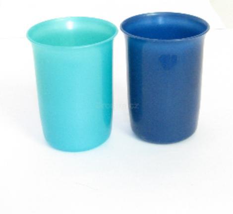 Kelímek plast metalíza mix