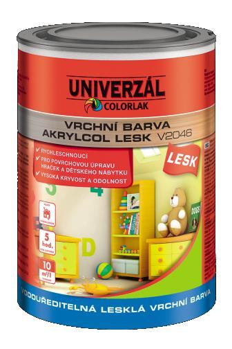 Colorlak Akrylcol lesk V2046 1000 bílý 0,6 l