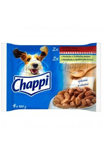 Chappi s hovězím a drůbežím masem 4 x 100 g
