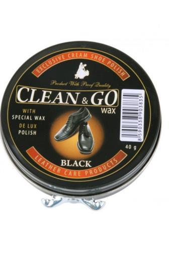 Clean & GO Wax krém na obuv černý 40 g