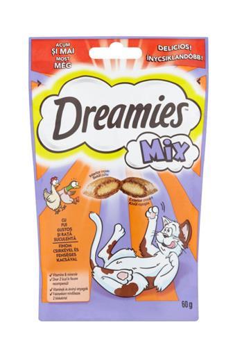 Dreamies polštářky kuře a kachna mix 60 g