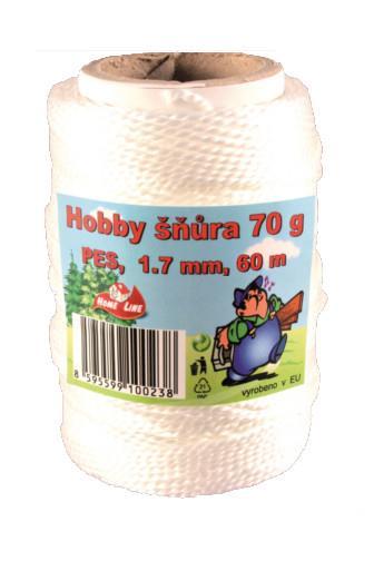 Hobby šnůra 1.7 mm 60 m 70 g
