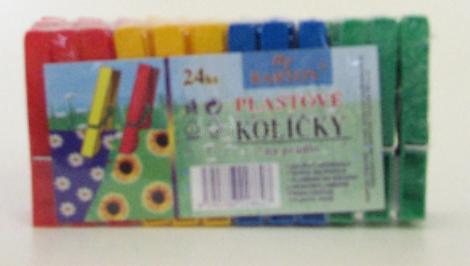 Kolíčky na prádlo plastové Clanax 24ks