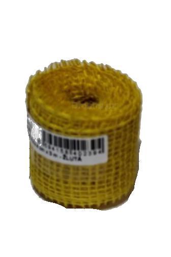 Jutová stuha 4cm x 3m žlutá
