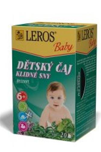 Leros Baby Dětský čaj klidné sny 20 x 1,5 g