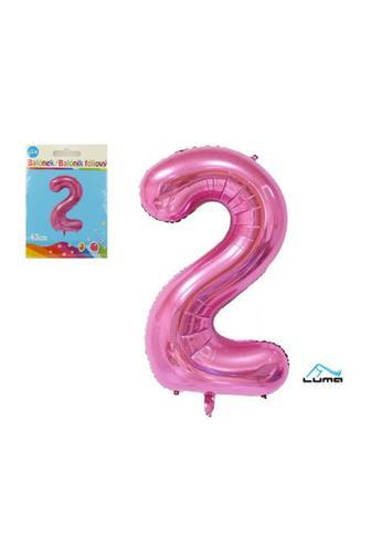 Balónek fóliový růžový 43cm č.2
