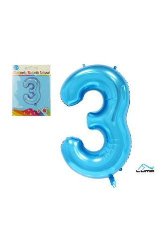 Balónek fóliový modrý 43cm č.3