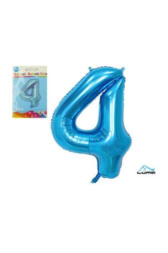Balónek fóliový modrý 43cm č.4