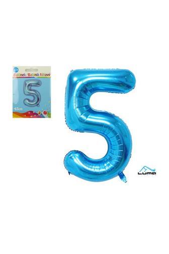 Balónek fóliový modrý 43cm č.5