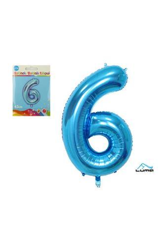 Balónek fóliový modrý 43cm č.6