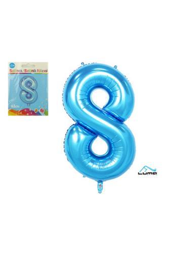 Balónek fóliový modrý 43cm č.8